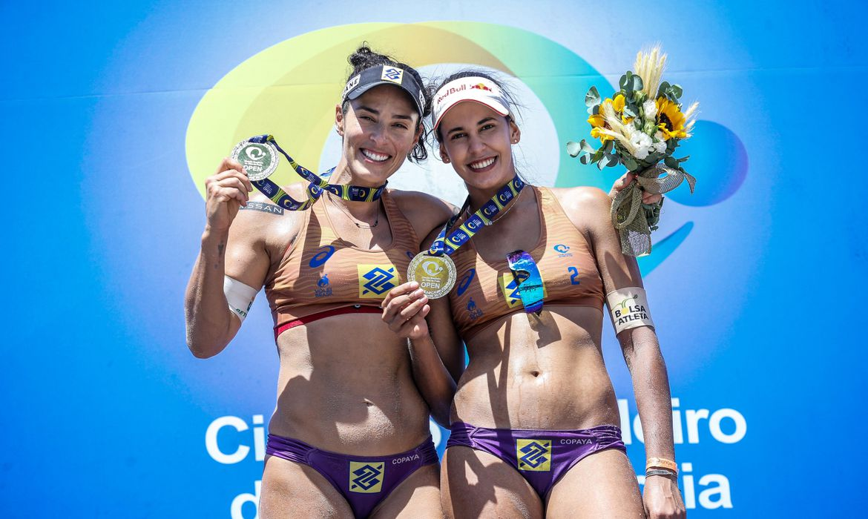 Ágatha (PR) e Duda (SE) são as campeãs da temporada 20/21 do Circuito Brasileiro de Vôlei de Praia,