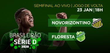 TV Brasil exibe o jogo de volta da semifinal Novorizontino X Floresta pela Série D