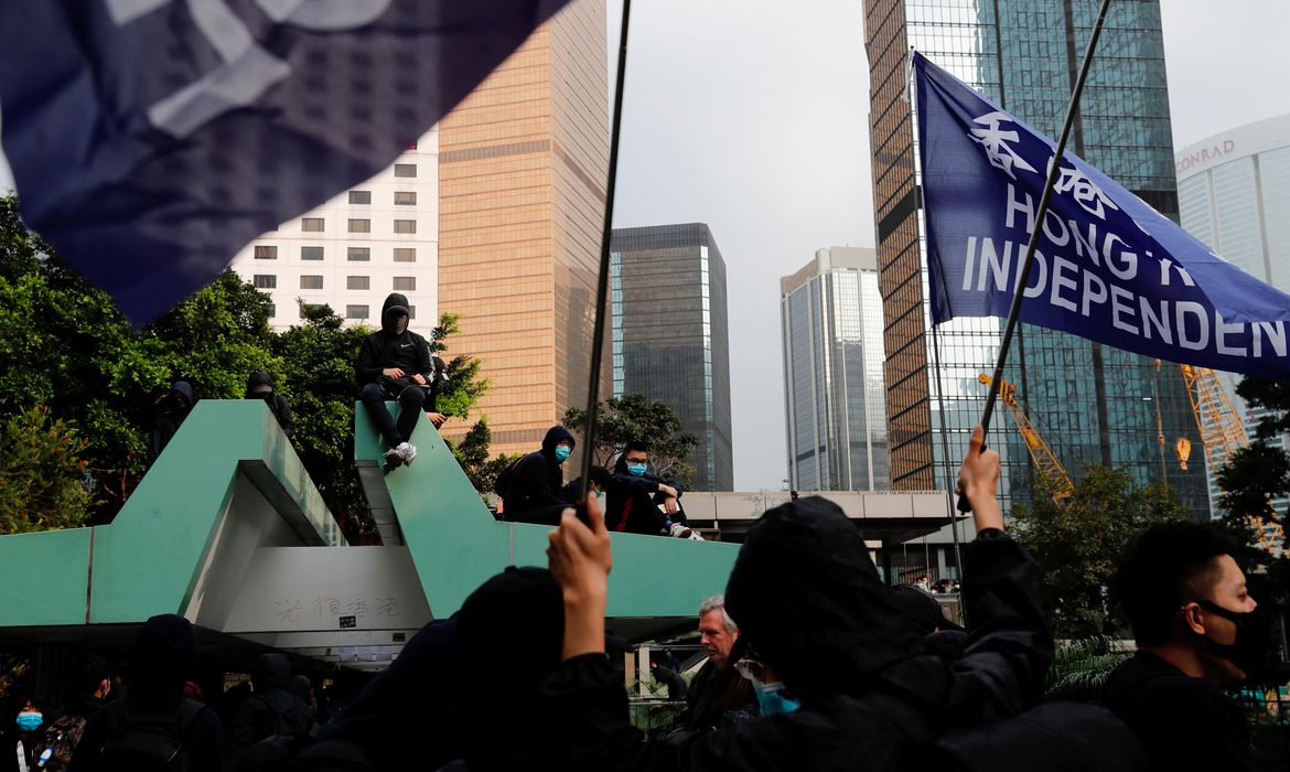 Anti-government protesters attend a rally to call for democratic reforms in Hong Kong, China January 19, 2020. REUTERS/Tyrone Siu