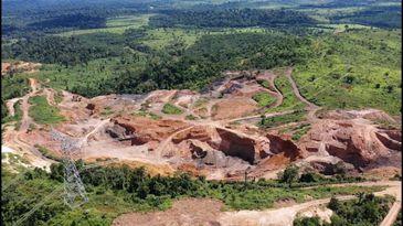Garimpo ilegal na região de Marabá, no Amapá