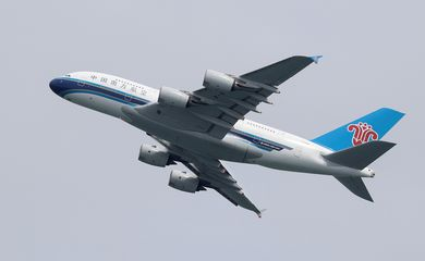 FILE PHOTO: A China Southern Airlines plane takes off from Sydney Airport in Sydney
