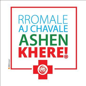 Marca da campanha da Associação Maylê Sara Kalí com os dizeres