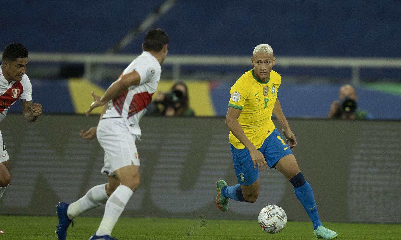 Richarlison - seleção brasileira masculina de futebol - Copa América - Brasil x Peru pela semi final da Copa América 2021.