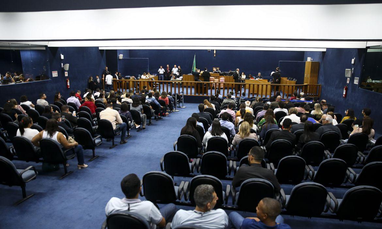 Julgamento da arquiteta Adriana Villela, acusada de ser a mandante do assassinato de seus pais e da empregada da família, no Tribunal do Júri de Brasília.