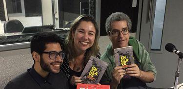 Jorge Pereira e Fernando Andrade conversam com Katy Navaro