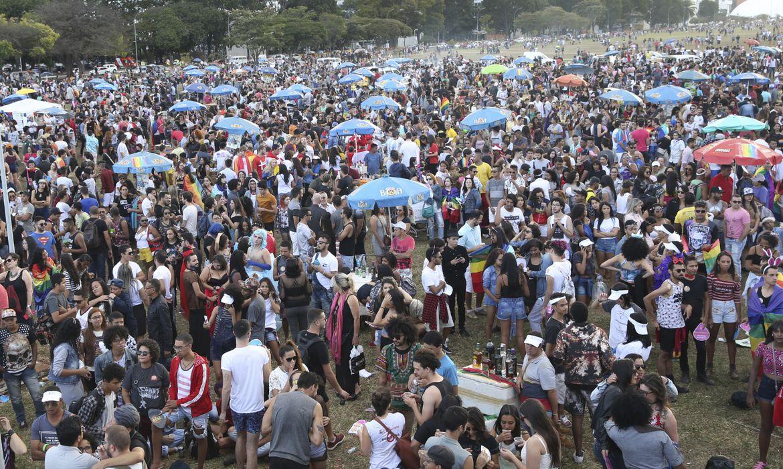 Brasília - A Parada do Orgulho LGBT de Brasília leva uma multidão à Esplanada dos Ministérios (Antonio Cruz/Agência Brasil)