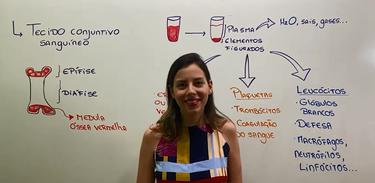 Professora Camila Cavaliere explica o que é o tecido conjuntivo sanguíneo