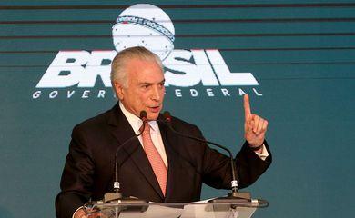 Brasília - O presidente Michel Temer discursa na cerimônia de entrega da Ordem do Mérito Cultural 2017 (Wilson Dias/Agência Brasil)