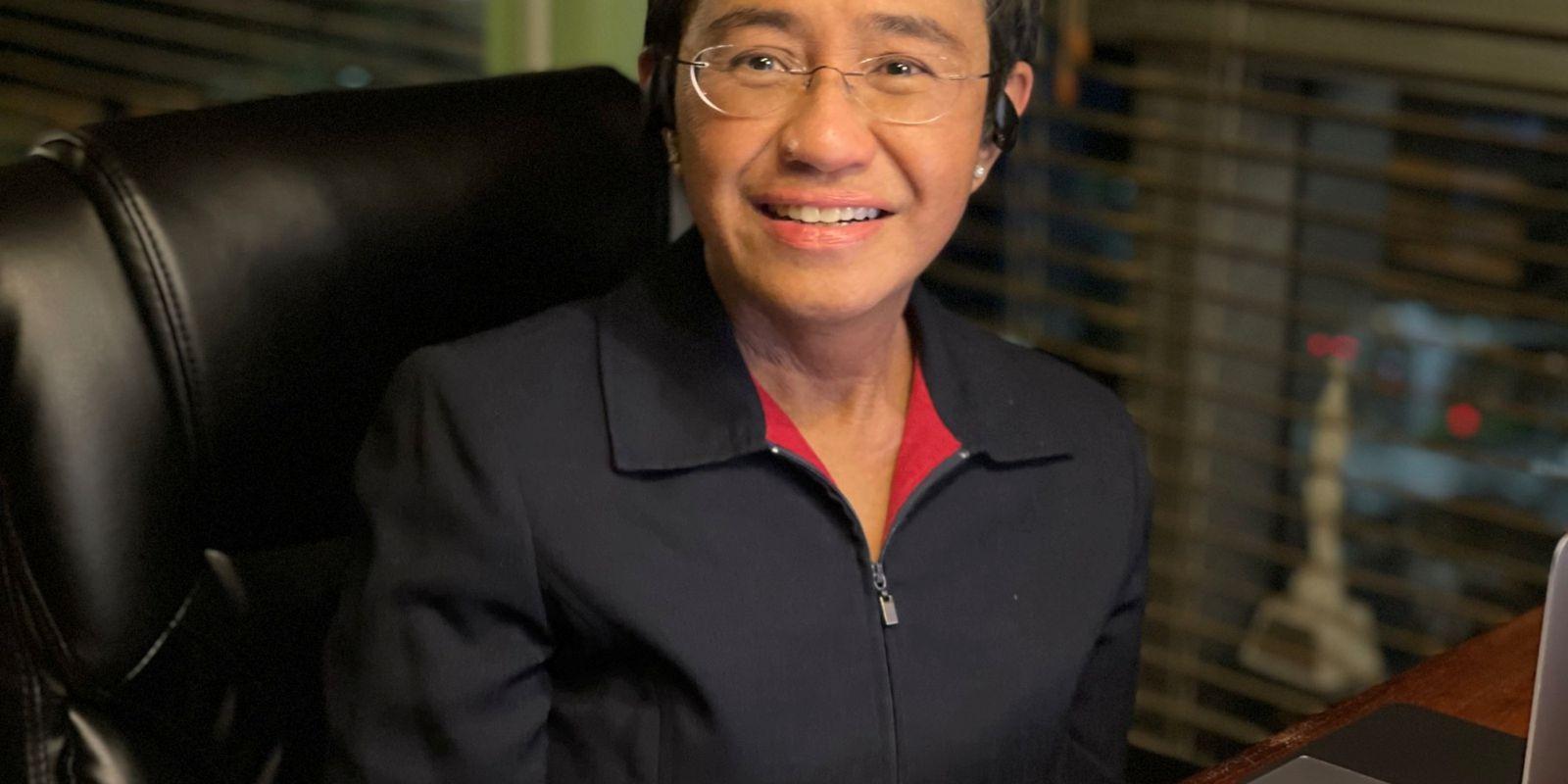 2021 Nobel Peace Prize winner Maria Ressa