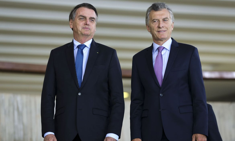 O presidente Jair Bolsonaro recebe o presidente da Argentina, Mauricio Macri, para almoço no Palácio do Itamaraty.