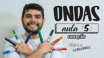 Professor de Física, Rafael Faria, em uma vídeo-aula
