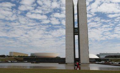 Palácio do Congresso Nacional na Praça dos Três poderes em Brasília