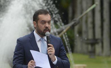 O governador do Estado do Rio de Janeiro, Cláudio Castro, faz discurso de posse no Palácio Guanabara