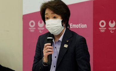 Presidente do comitê organizador Tóquio-2020, Seiko Hashimoto, em Tóquio - Olimpíada