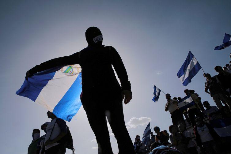 Protesto contra o governo de Daniel Ortega, na Nicarágua
