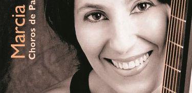 Márcia Taborda - cantora e violonista, capa de álbum