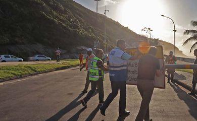Prefeitura reabre Niemeyer após autorização do STJ. Foto: Edvaldo Reis / Prefeitura do Rio
