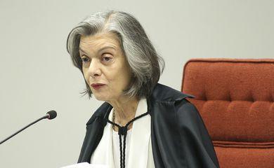 A presidente do Supremo Tribunal Federal (STF), Cármem Lúcia, durante a segunda e última audiência pública sobre descriminalização do aborto.