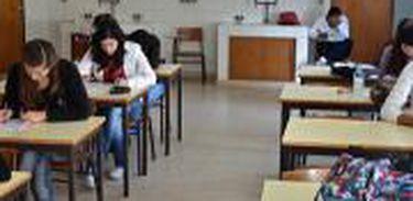 Estudantes, sala de aula