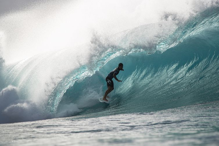 OAHU, UNITED STATES - DECEMBER 19: Two-time WSL Champion Gabriel Medina of Brazil finishes runner-up in the 2019 Billabong Pipe Masters after placing second in the final at Pipeline on December 19, 2019 in Oahu, United States. (Photo by Tony