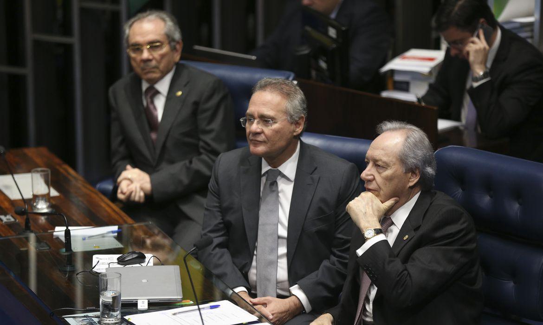 Brasília - Quinto dia de julgamento final do processo de impeachment da presidenta afastada, Dilma Rousseff, no Senado (Fabio Rodrigues Pozzebom/Agência Brasil)