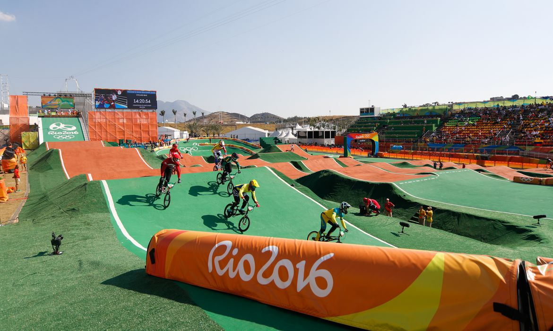Rio de Janeiro - Ciclistas começam as competições de BMX nos Jogos Olímpicos Rio 2016, no Parque Radical em Deodoro (Fernando Frazão/Agência Brasil)