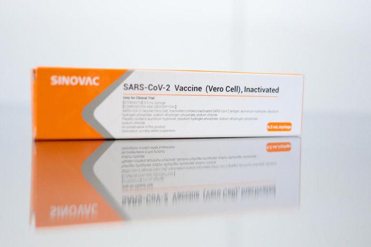 vacina Coronovac no Hospital das Clínicas de São Paulo.
