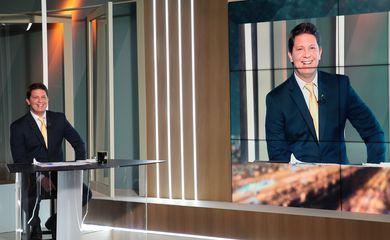O secretário especial da Cultura, Mario Frias, participa do programa Sem Censura, na TV Brasil