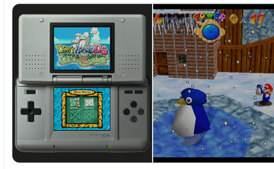 Yoshi's Island DS and Super Mario 64