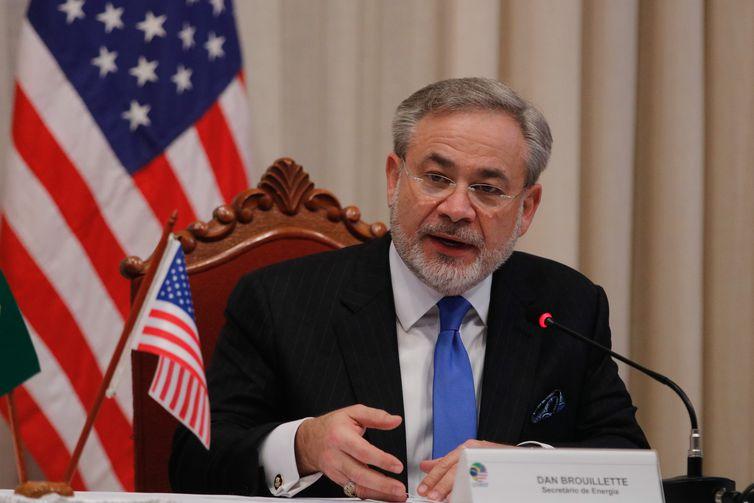 O secretário de Energia dos Estados Unidos das Américas, Dan Brouillette, fala durante Fórum de Energia Brasil – Estados Unidos, na Escola Superior de Guerra, no Rio