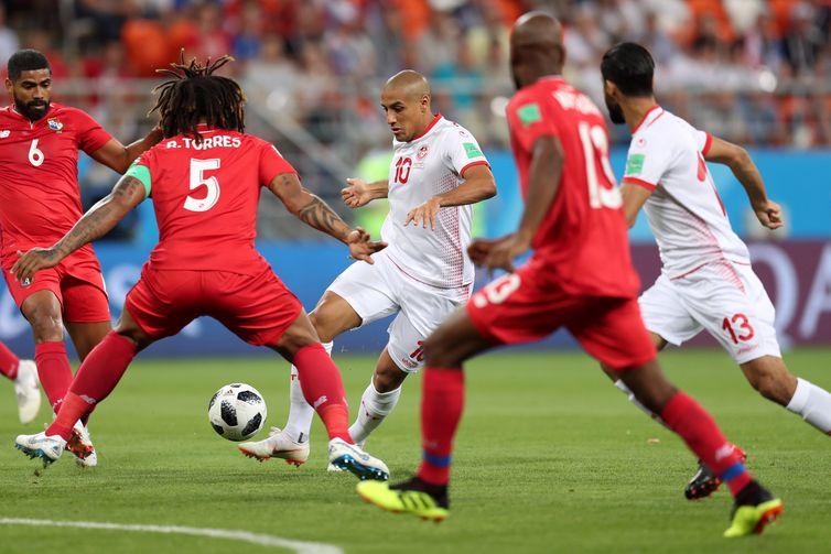 Copa 2018: Panamá e Tunísia. Início do jogo.