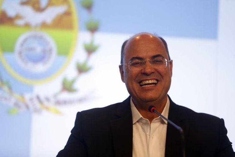 O governador eleito do Estado do Rio de Janeiro, Wilson Witzel (PSC), anuncia secretários em entrevista coletiva sobre a transição do governo, na Fecomércio.