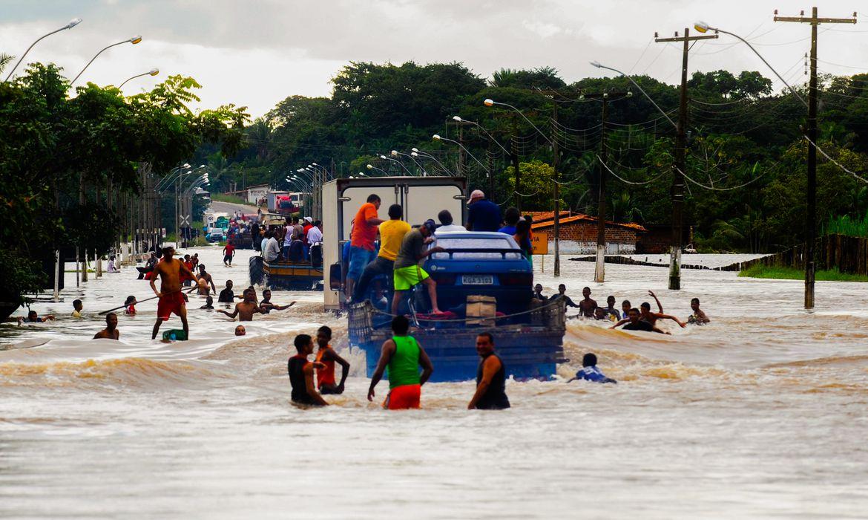 Enchentes município de Trizidela do Vale no estado do Maranhão