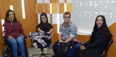 Programa Especial debate moda inclusiva no estúdio