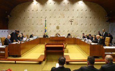 Brasília - Sessão plenária do Supremo Tribunal Federal (STF) para julgar o habeas corpus do ex-ministro Antonio Palocci (Valter Campanato/Agência Brasil)