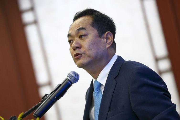 Brasília: O embaixador da China, Yang Wanming, durante o Fórum de Think Tanks China-Brasil. (Foto: Marcelo Camargo/Agência Brasil)