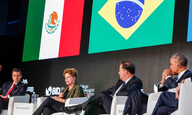 Presidenta Dilma Rousseff participa do painel do Foro Empresarial das Américas – Unindo as Américas: Integração Produtiva para o Desenvolvimento Inclusivo (Roberto Stuckert Filho/PR)