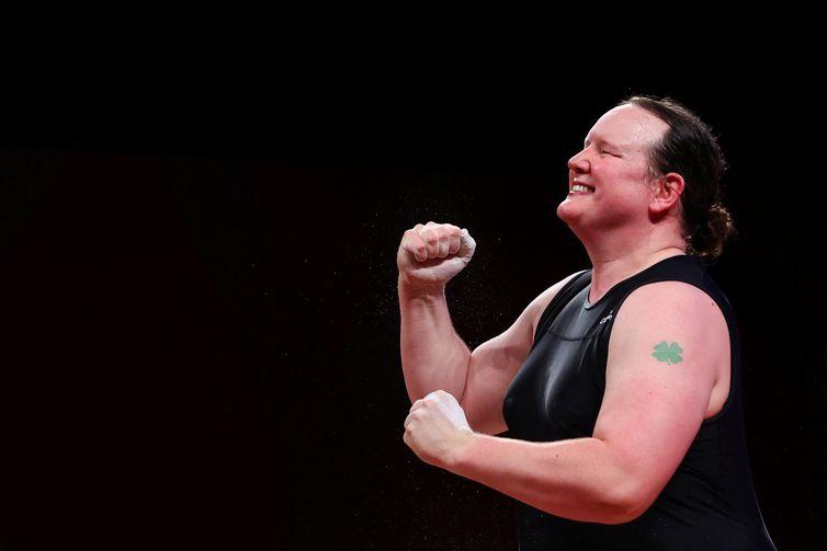 Neozelandesa Laurel Hubbard nos Jogos de Tóquio