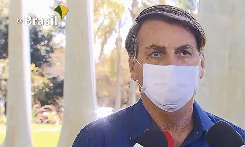 O presidente Jair Bolsonaro durante entrevista