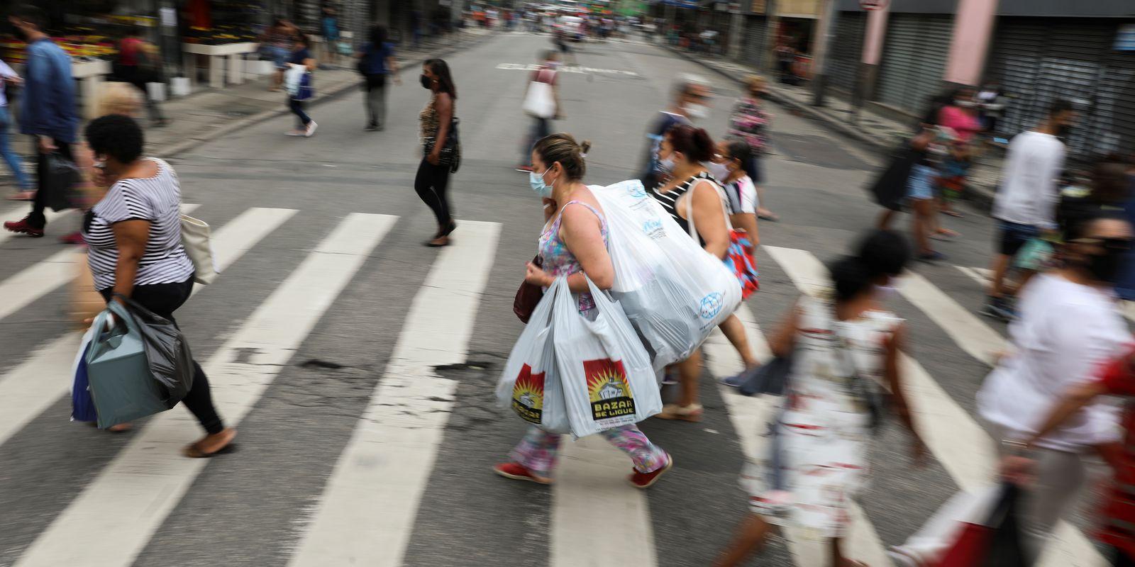 comércio de rua no Rio de Janeiro