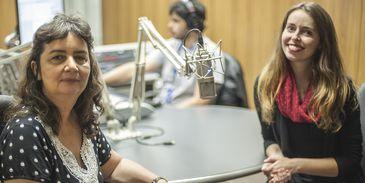 Filósofa Lúcia Helena Galvão com a jornalista Isabela Azevedo