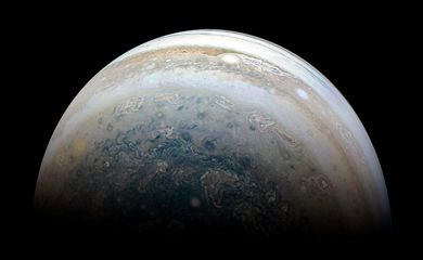 NASA's Juno spacecraft captures Jupiter's southern hemisphere, as the spacecraft performed its 13th close flyby of Jupiter on May 23, 2018.  Picture taken May 23, 2018.    NASA/JPL-Caltech/SwRI/MSSS/Kevin M. Gill/Handout via REUTERS
