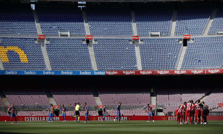 Jogo entre Barcelona e Atlético de Madri - La Liga - CAmpeonato Espanhol - estádio