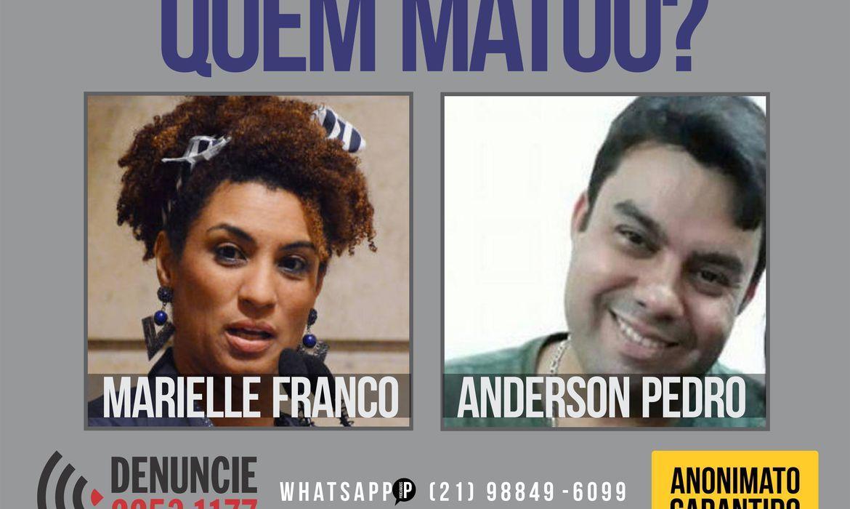 Disque denúncia, Marielle Franco e Anderson Pedro Gomes