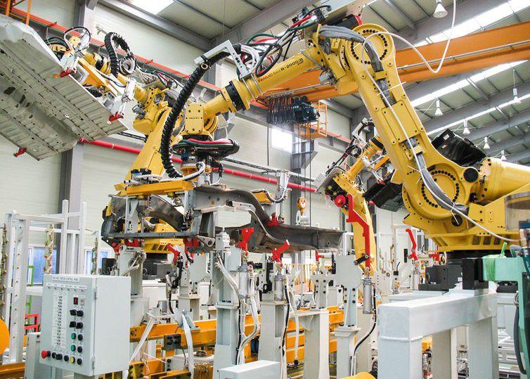 Uso de robôs na indústria