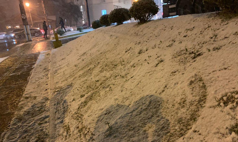 Gramado Registra neve nesta quarta-feira (28).