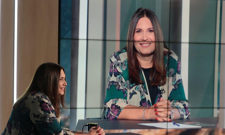 A deputada federal, Bia Kicis, participa do programa Sem Censura, na TV Brasil