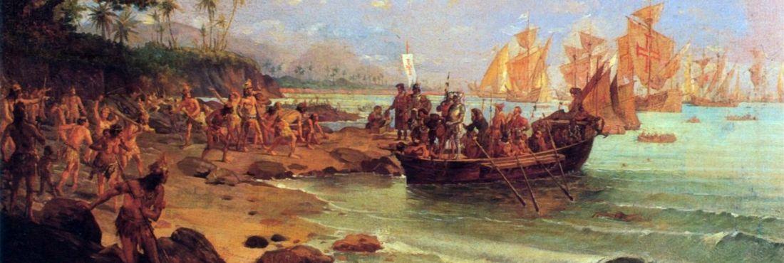 Desembarque de Pedro Álvares Cabral em Porto Seguro em 1500, obra do pintor Oscar Pereira da Silva