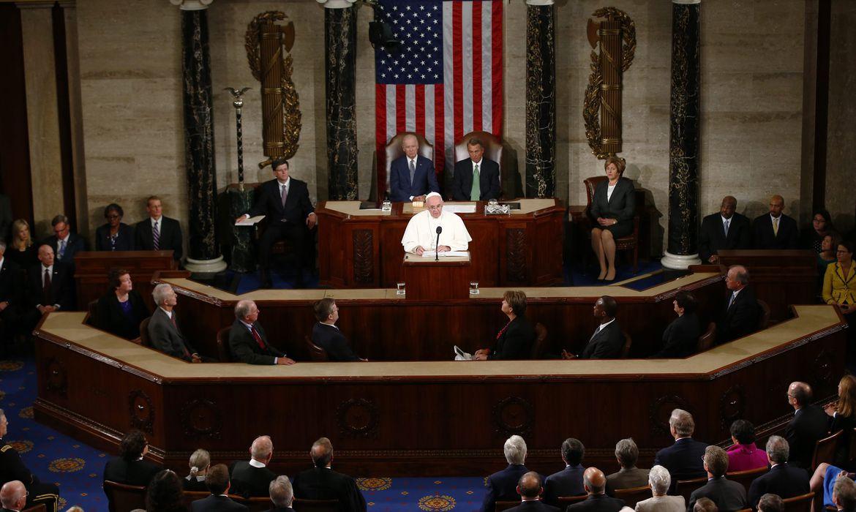 Papa Francisco discursa no Congresso dos Estados Unidos (Agência Lusa/Direitos Reservados)