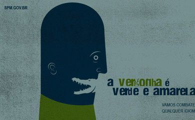 Imagem usada no post do governo federal contra casos de assédio a mulheres.